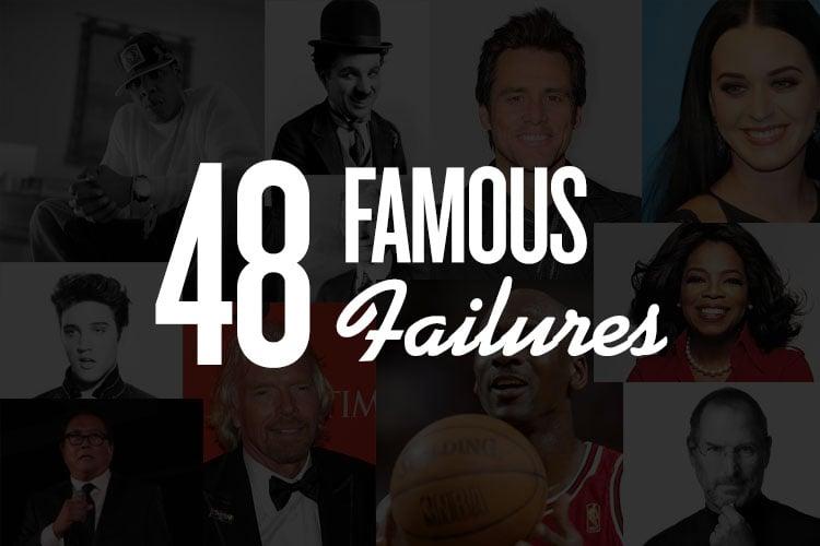 48 famosi fallimenti che sono falliti nella vita prima di riuscire
